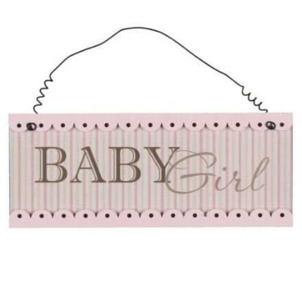 'Baby Girl' Hanging Plaque
